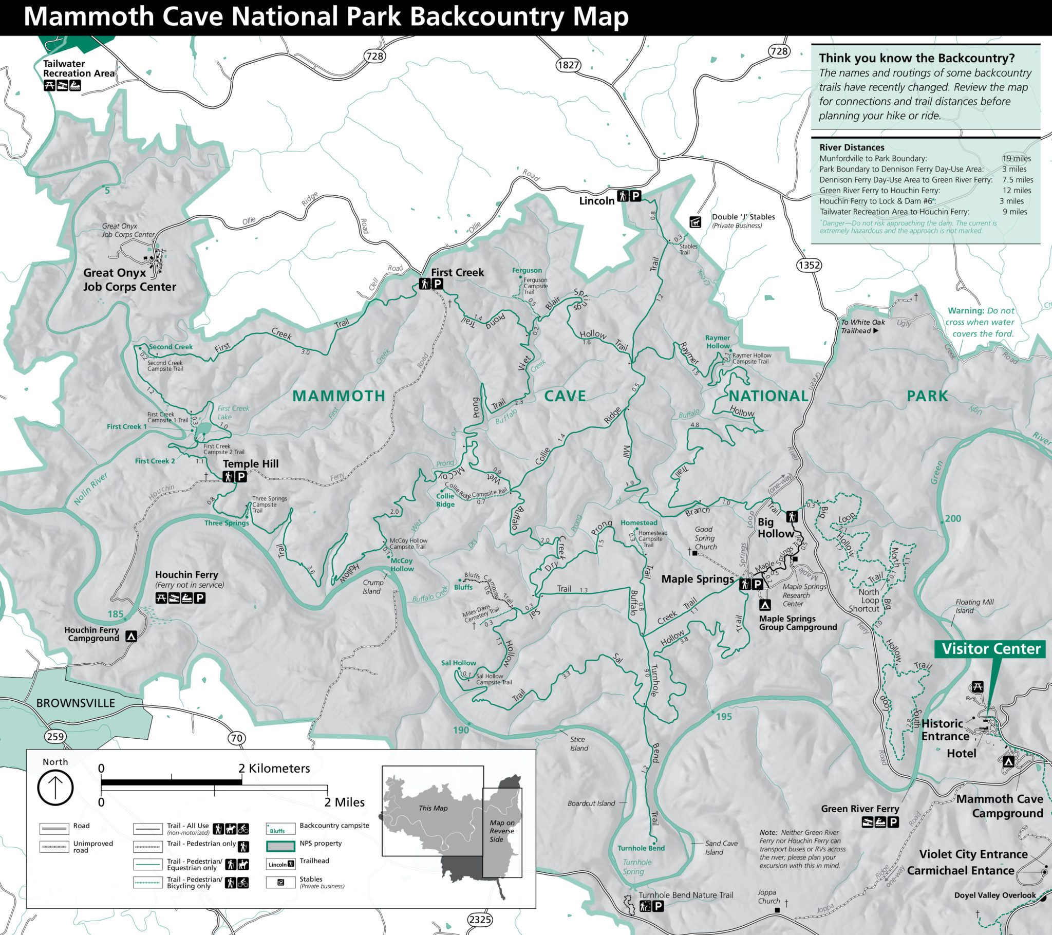 Area Maps Hickory Cabins Mammoth Cave cabin rental accommodations